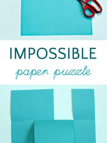 The impossible paper puzzle is a fun trick for kids.