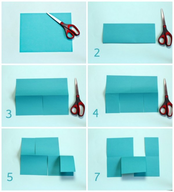 Instructions for making the impossible paper puzzle