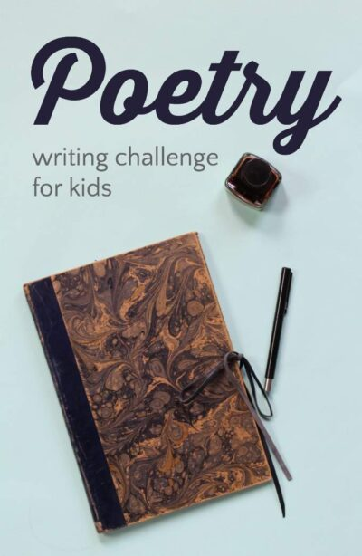 Teach kids to write poetry, and love it with this poetry writing challenge for National Poetry Month.