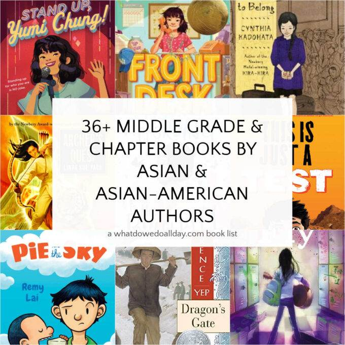 Asian chapter books for kids collage of book covers