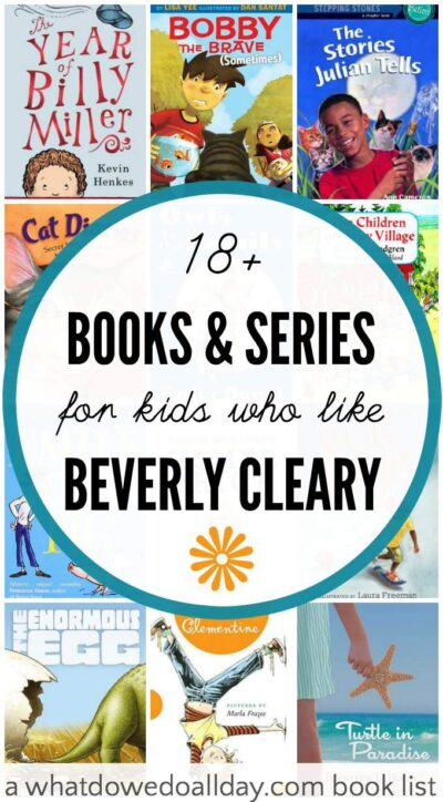 Books for kids who like Beverly Cleary books such as Ramona and Henry Huggins.