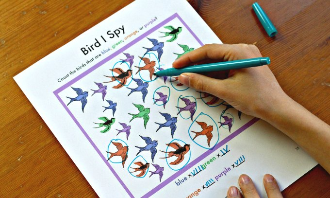 Pack of printable I Spy boredom busters