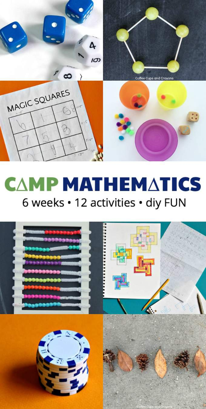 Summer Camp Mathematics for kids. A stay at home summer camp.