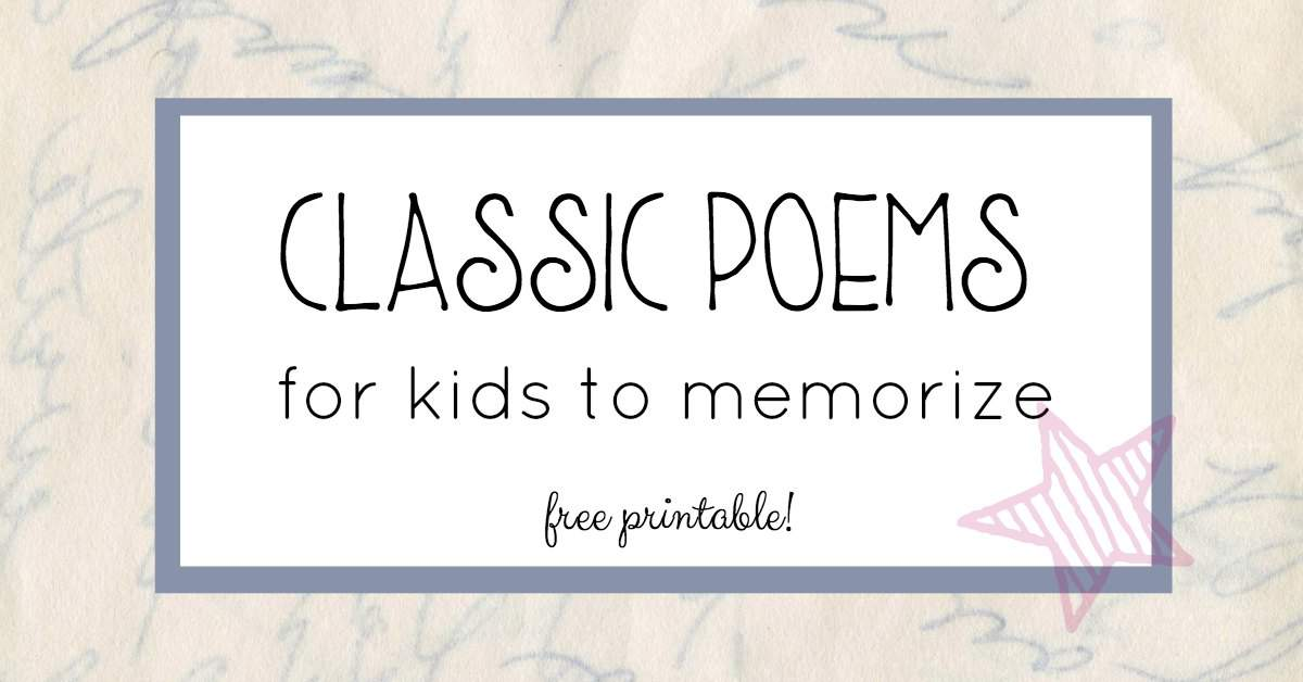 poems for kids to memorize