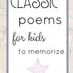 Classic Poems for Kids to Memorize