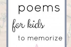 Classic poems for kids to memorize. Perfect for families, too.