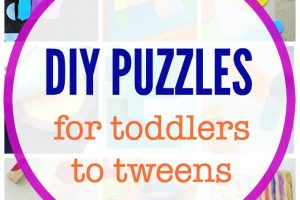 Make your own puzzles for kids to put together