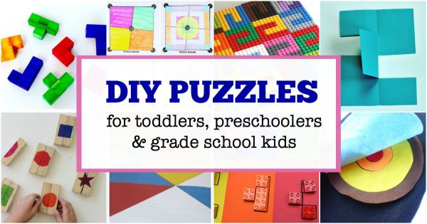 DIY puzzles you can make for kids of all ages.