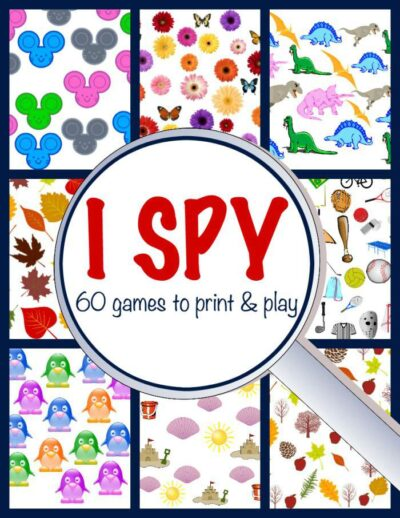 Printable I spy book for kids is a great way to pass time in restaurants or waiting areas.