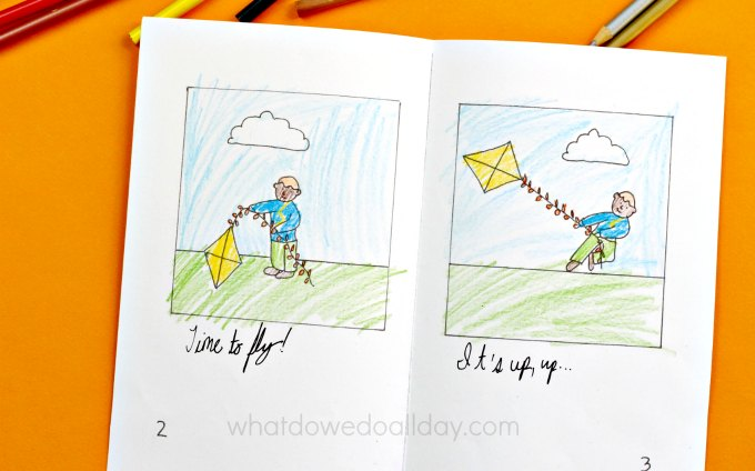 Open kite story book