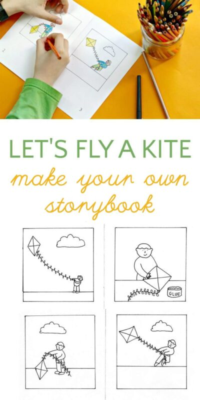 Make Your Own Kite Story Book With A Darling Free Printable Coloring Page From Melanie Hope