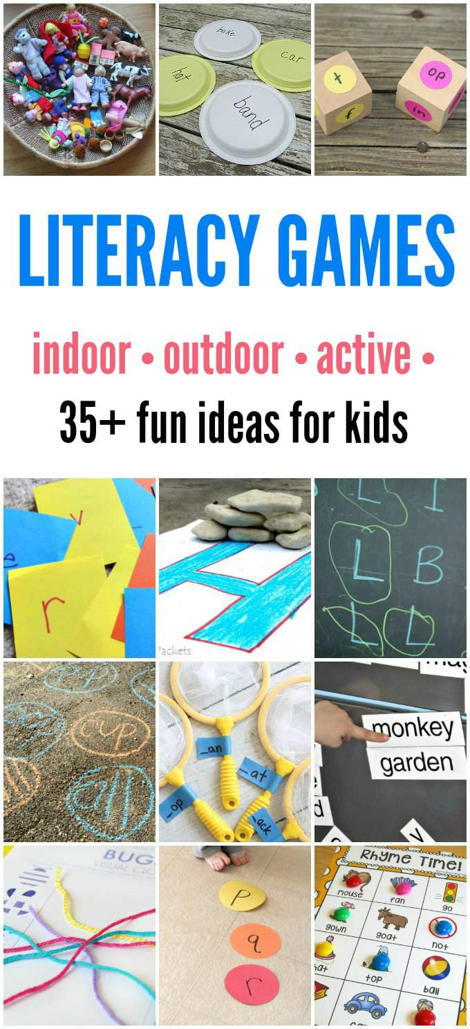 literacy games for kids  indoor and outdoor learning fun