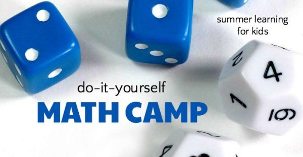 Math camp for kids to do at home during the summer