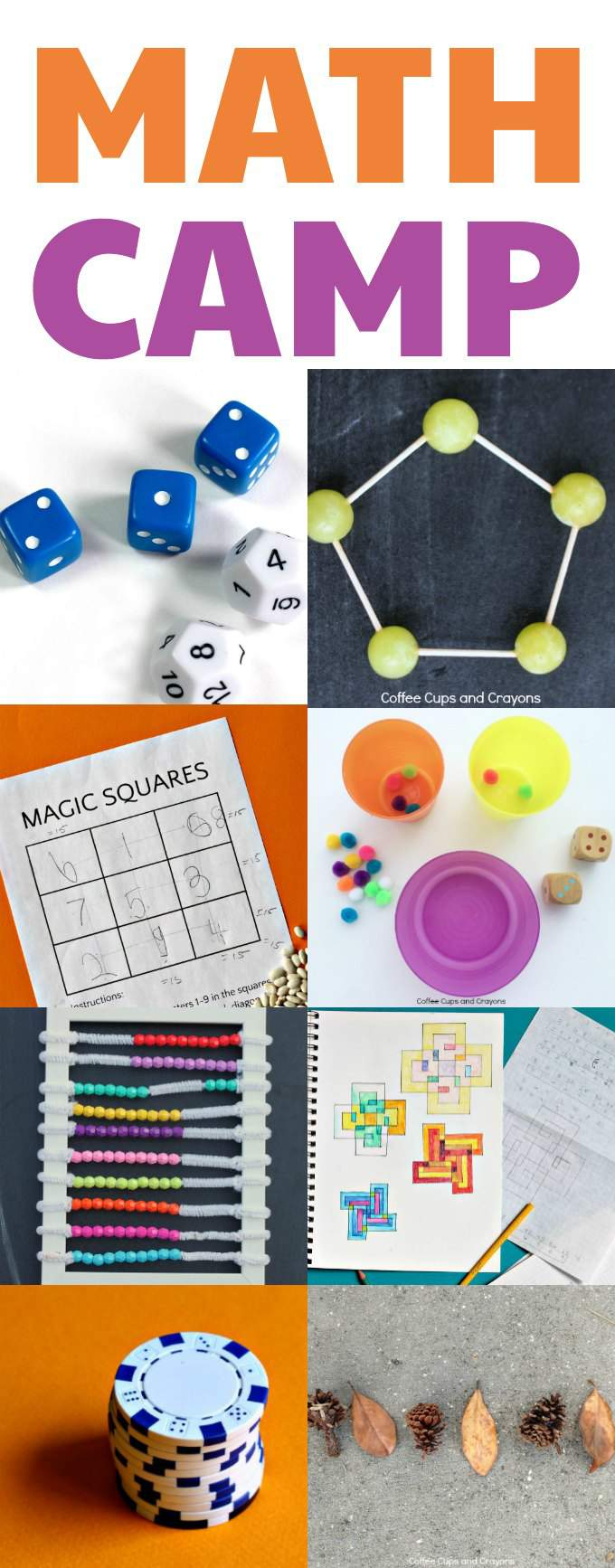 Do it yourself Math camp at home for kids.