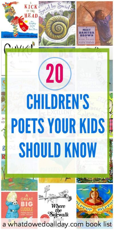 Popular children's poets kids should know and a book list with great titles.