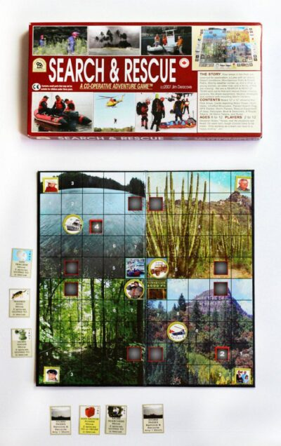 Search and Rescue cooperative game from family pastimes