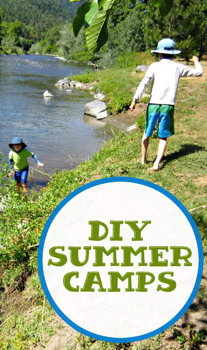 Make your own summer camp at home.