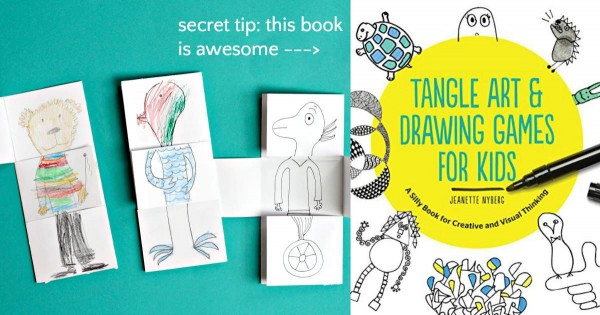 Drawing games for kids including the exquisite corpse