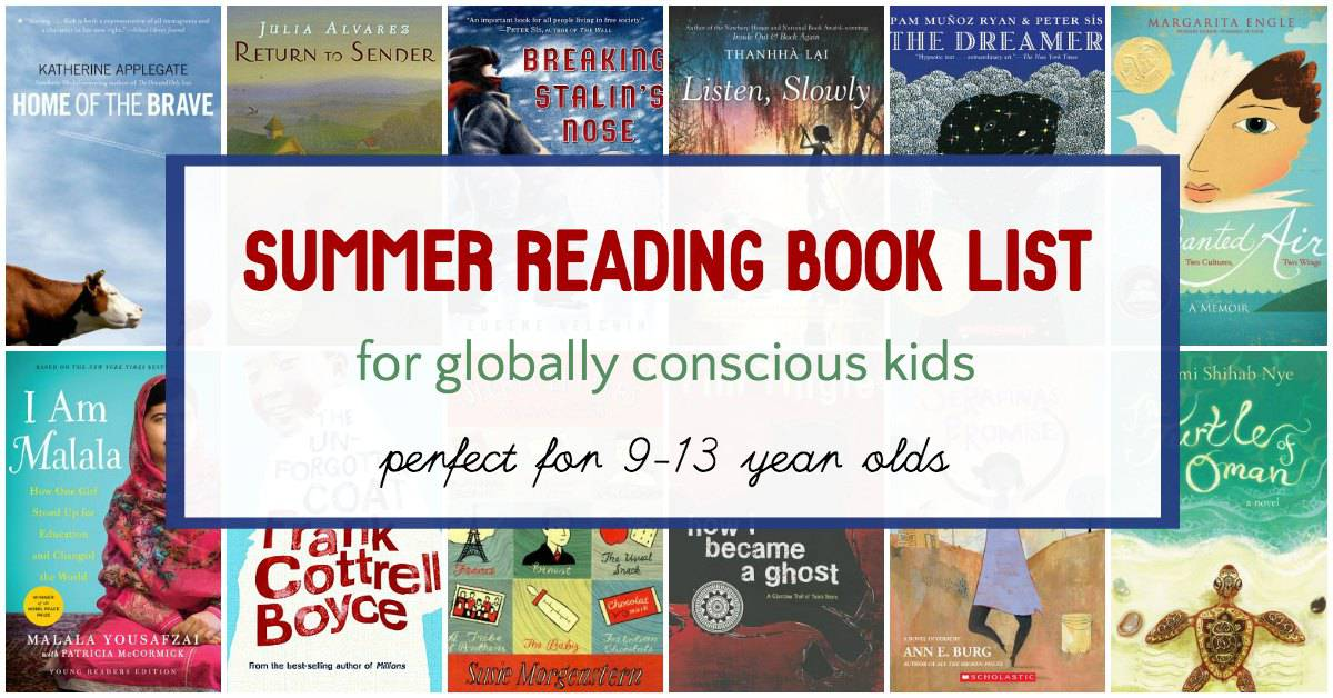 Variety of books for 6th grade summer reading.