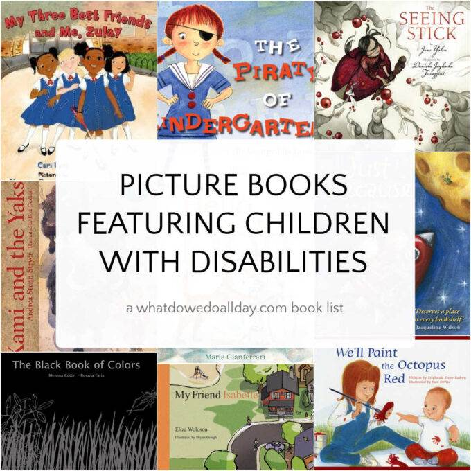 book covers of picture books that show children with disabilities