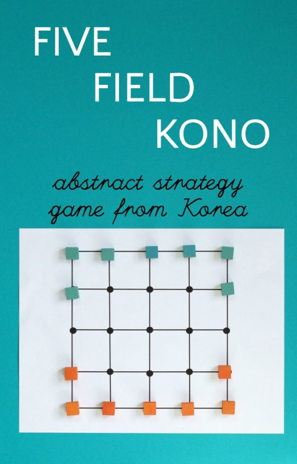 Five field kono game is great for math and strategy skills. Kids love it.