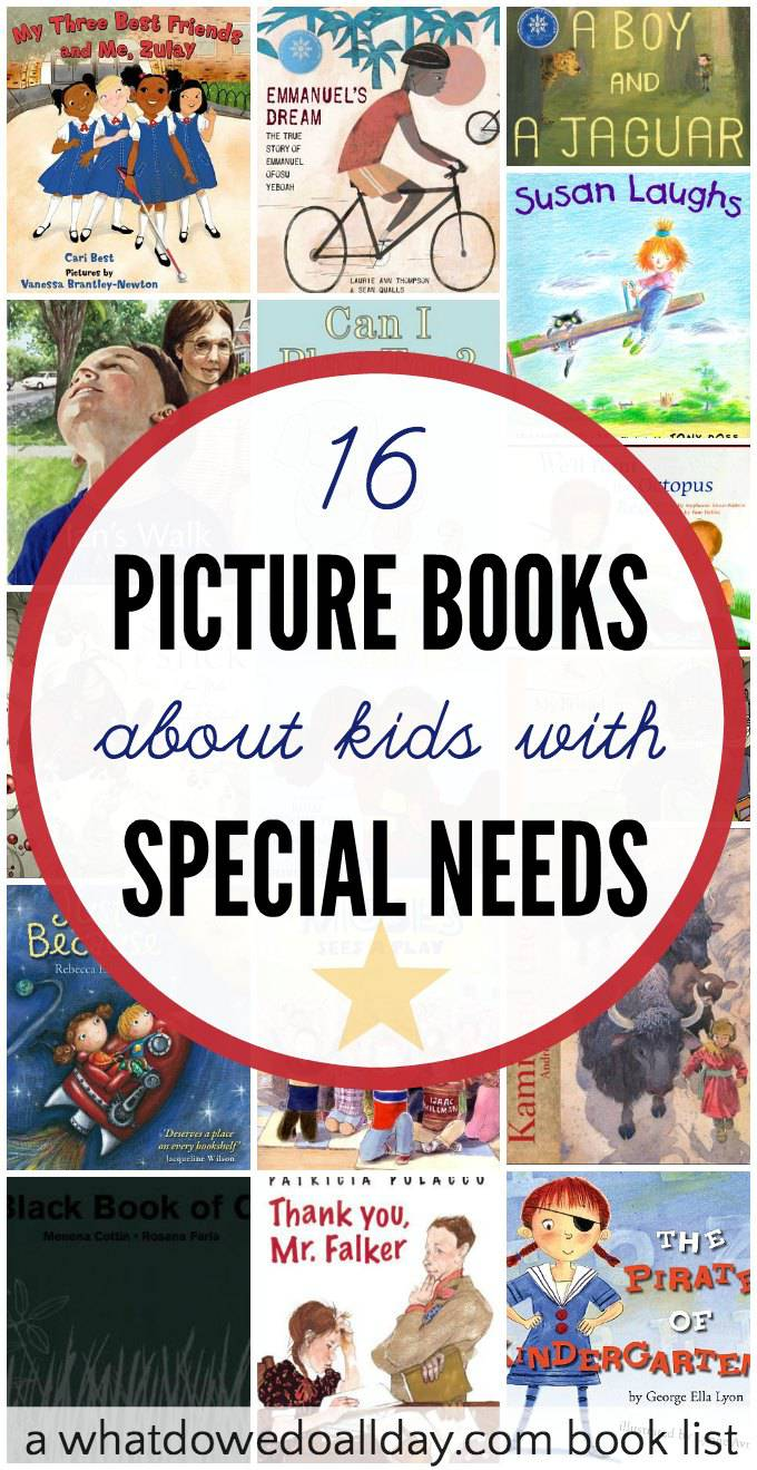 Wonderful children's books about special needs. List contains a variety of books about disabilities ranging from blindness to autism.