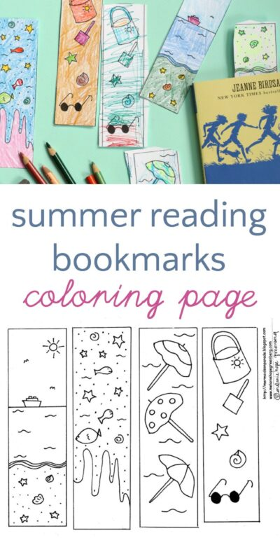 Summer Reading Bookmarks to Color