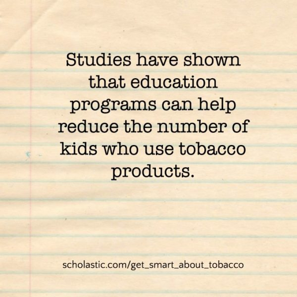 Tobacco education quote