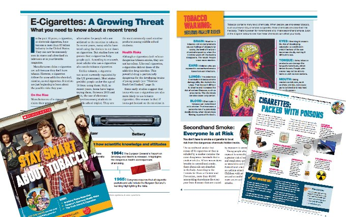 Scholastic magazine about tobacco