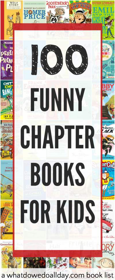 A list of funny chapter books for kids.