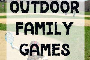 Fun outdoor family games for the backyard.
