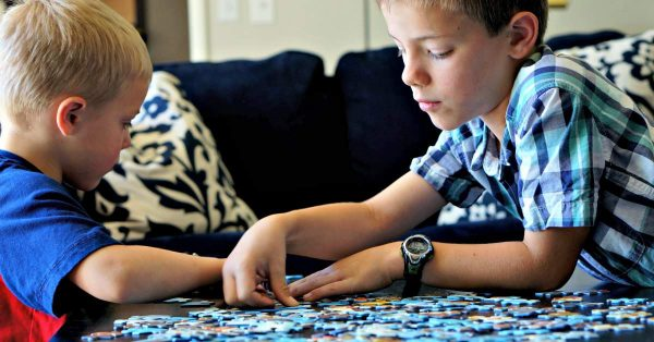 Puzzles as a read aloud activity