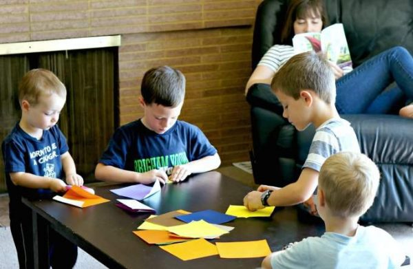 A great read aloud activity for kids is origami