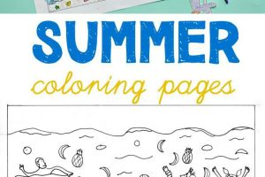 Fun Summer Solstice Coloring Page for Kids