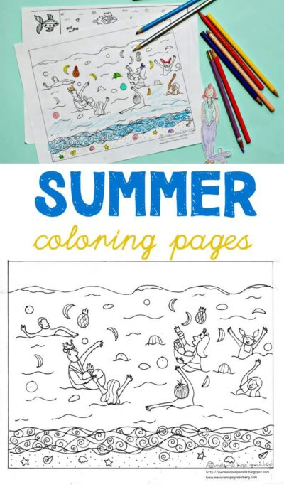 Summer solstice coloring page to celebrate the start of summer.