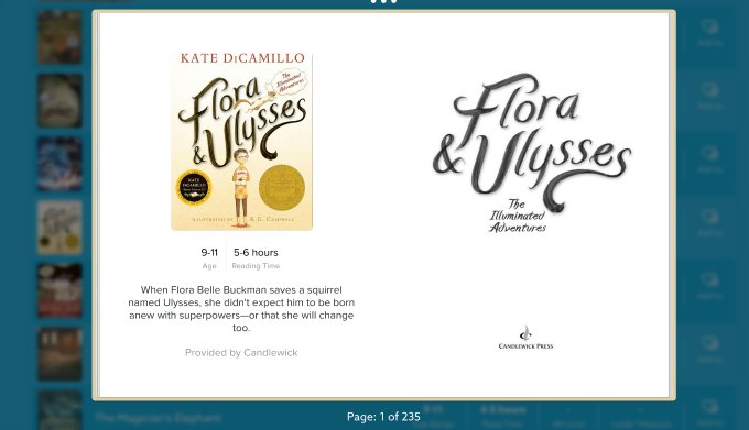 Flora and Ulysses on epic kids ebooks app