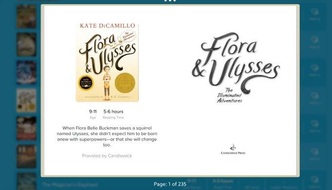 Flora and Ulysses on epic kids ebooks app