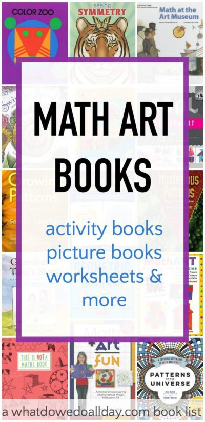 Math Art books for kids to inspire STEAM learning.