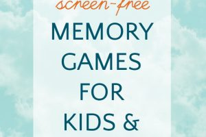 Memory games for kids on the go or at home