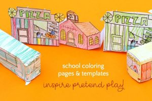 School Bus Coloring Page & Template