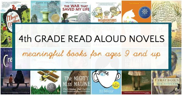 Great 4th grade read aloud books for all kids ages 9 and up.