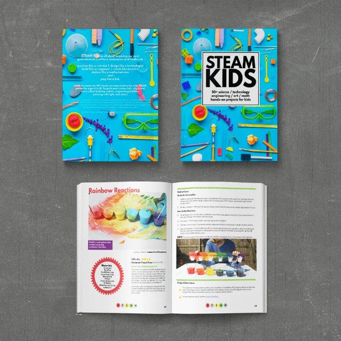 STEAM KIDS book open
