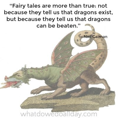 Neil Gaiman dragon quote