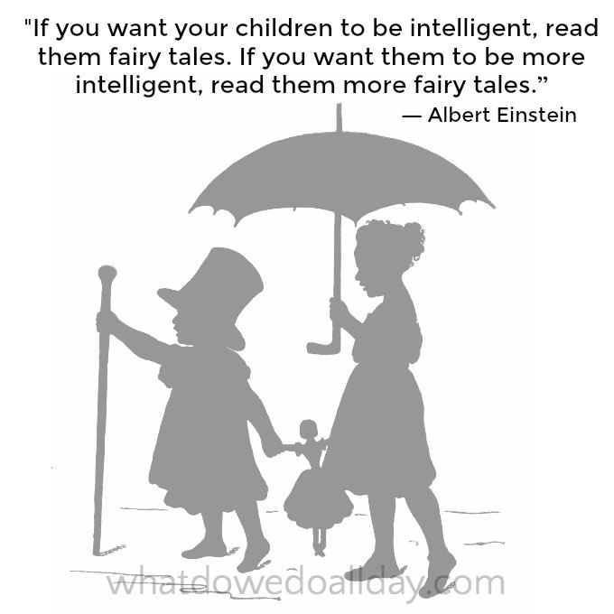 Einstein fairy tale quote