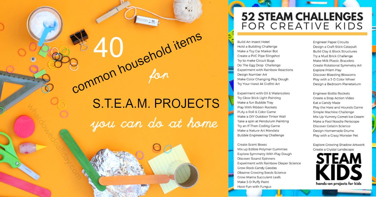 STEAM Projects at Home with Common Household Items