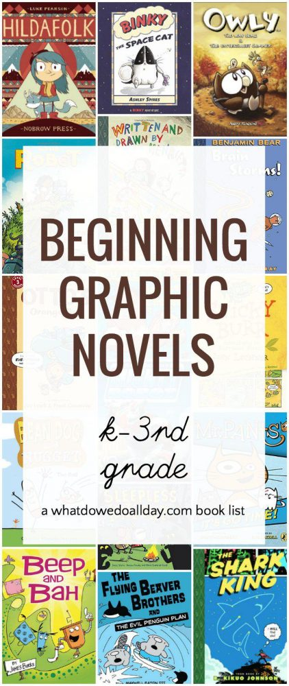 Good beginning graphic novels for kids learning to read