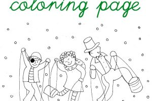 Halloween costume coloring page for kids