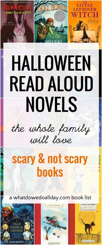 Scary Non Scary Halloween Novels For Family Read Aloud Time