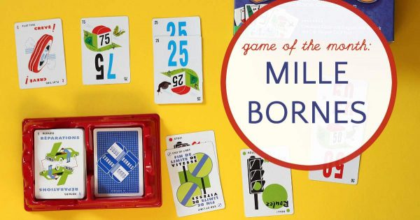Classic auto racing card game Mille Bornes