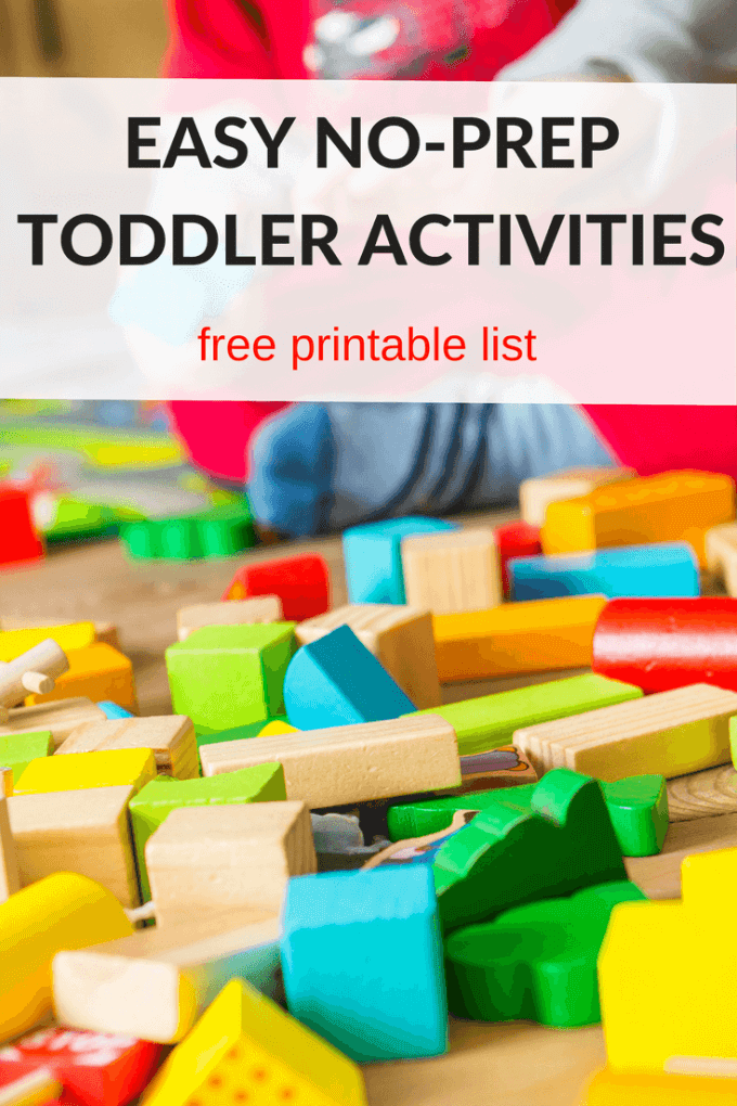 Easy no prep toddler and preschool activities
